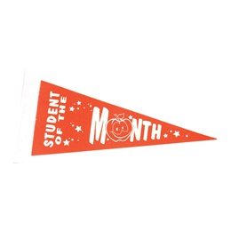 Student of the Month Award Pennant - Orange/White