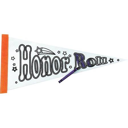 Color Fun Pennant - Honor Roll