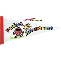 Color Fun Pennant - Perfect Attendance