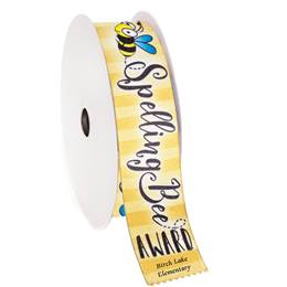 Custom Award Ribbon Roll - Spelling Bee