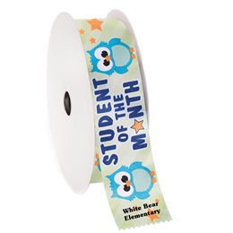 Custom Award Ribbon Roll - Student of the Month