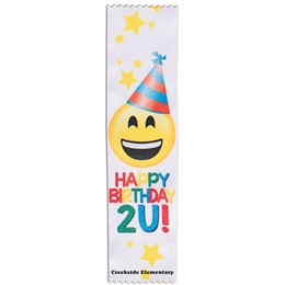 Full-color Custom Ribbon - Happy Birthday 2 U