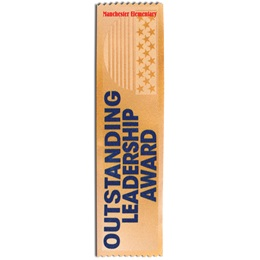 Full-color Custom Ribbon - Outstanding Leadership Award