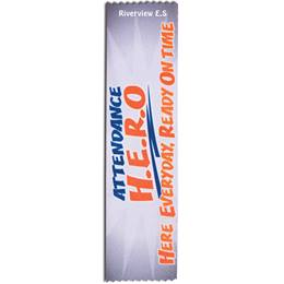 Full-color Custom Ribbon - Attendance H.E.R.O.