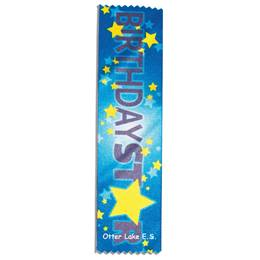 Full-color Custom Ribbon - Birthday Star