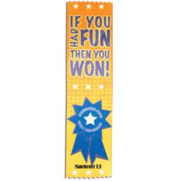 Full-color Custom Ribbon - If You Had Fun, Then You Won