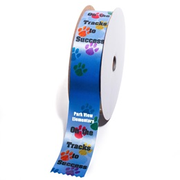 Custom Award Ribbon Roll - On The Tracks to Success
