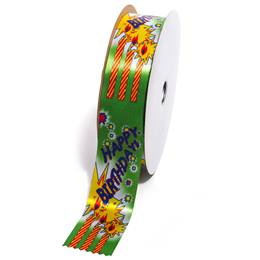 Deluxe Award Ribbon Roll - Happy Birthday Candles
