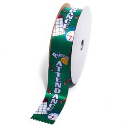 Deluxe Award Ribbon Roll - Perfect Attendance Checkmarks