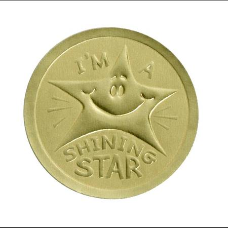 Gold Embossed Sticker - I'm a Shining Star