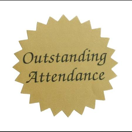 Gold Foil Sticker - Outstanding Attendance