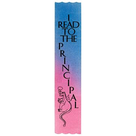 I Read to The Principal Award Ribbon