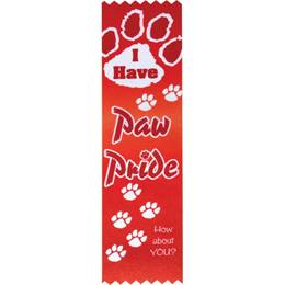 "Award Ribbons - Red ""I Have Paw Pride"""