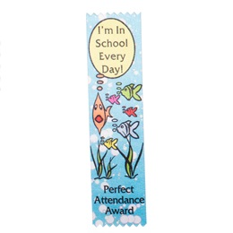 Award Ribbons - Perfect Attendance School of Fish
