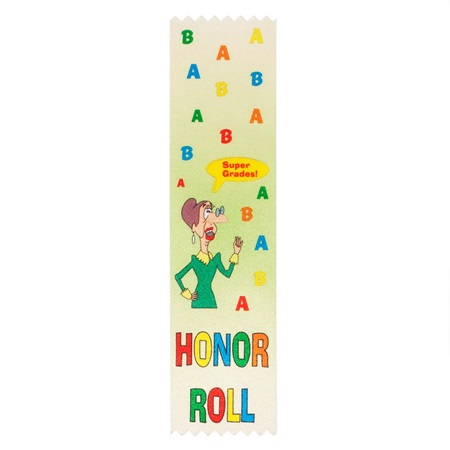 Full-color A and B Honor Roll Ribbon