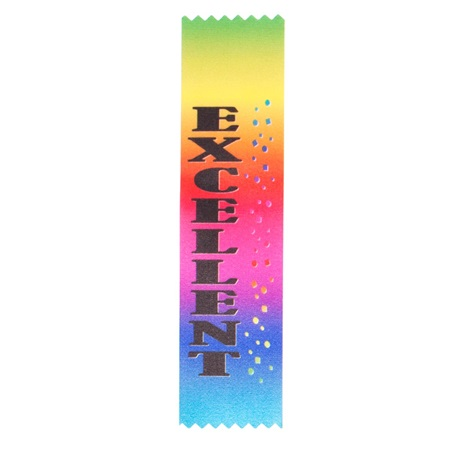 "Full-color ""Excellent"" Award Ribbon"
