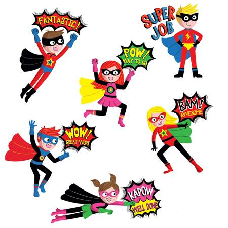 Superhero Award Stickers