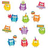 Owl Birthday Stickers