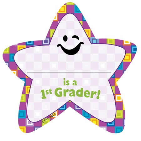 1st Grader Star Badges - 36/pkg
