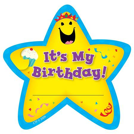 Birthday Star Badges - 36/pkg