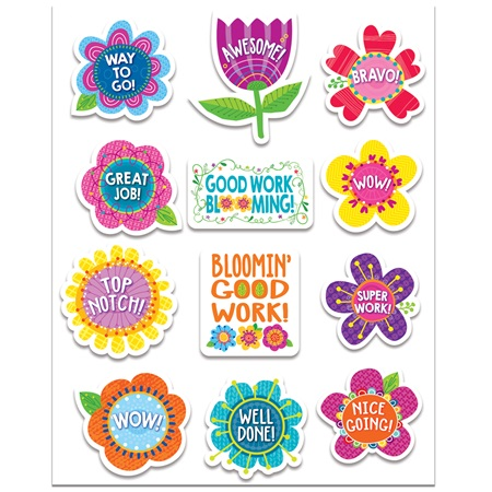 Springtime Blooms Award Stickers