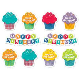 Cupcake Happy Birthday Stickers