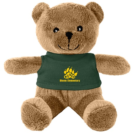 Colored Teddy Bear With Custom Shirt