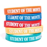 Student of the Month Wristband Assortment, 25/pkg