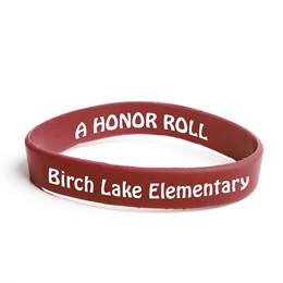 Custom Double Sided Wristband - Maroon