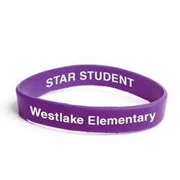 Custom Double Sided Wristband - Purple