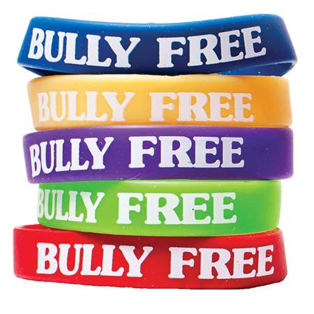 Bully Free Silicone Wristband