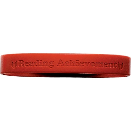 Engraved Silicone Wristband - Reading Achievement