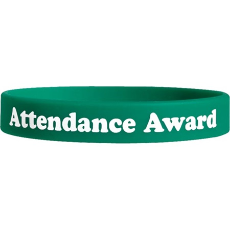 Screen Printed Silicone Wristband - Attendance Award