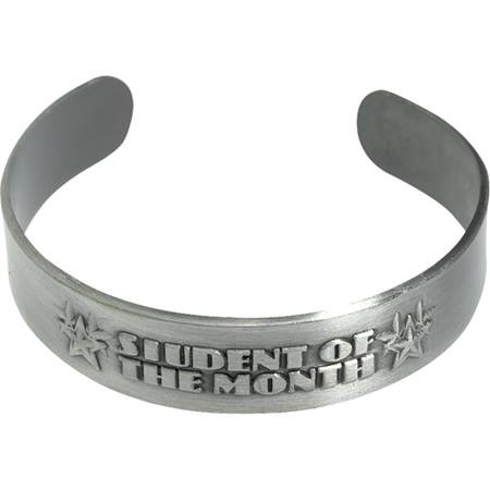 Metal Cuff Bracelet - Student of the Month