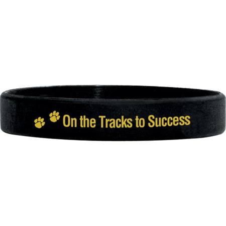 Rubber Wristband -On the Tracks to Success