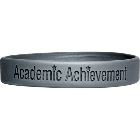 Engraved Silicone Wristband - Academic Achievement