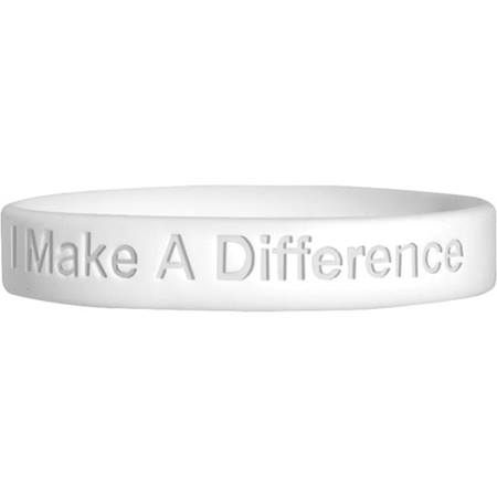 Engraved Silicone Wristband - I Make a Difference