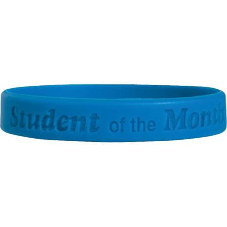 Engraved Silicone Wristband - Student of the Month
