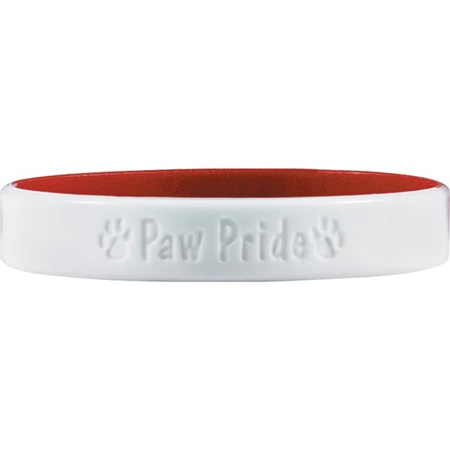 Engraved Silicone Wristband - Paw Pride