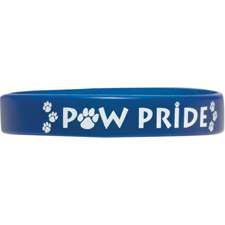 Screen Printed Silicone Wristband - Paw Pride