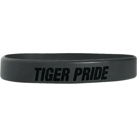 Engraved Silicone Wristband - Tiger Pride