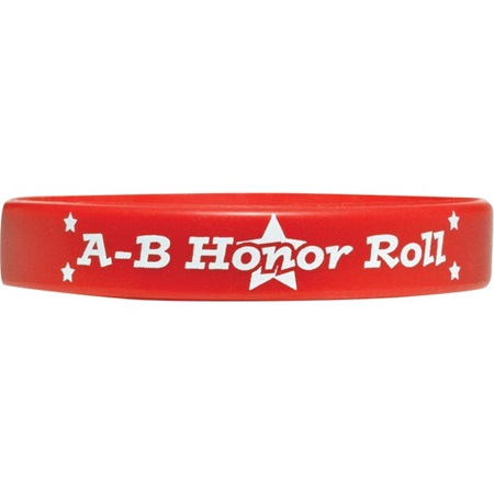Engraved Silicone Wristband - Honor Roll