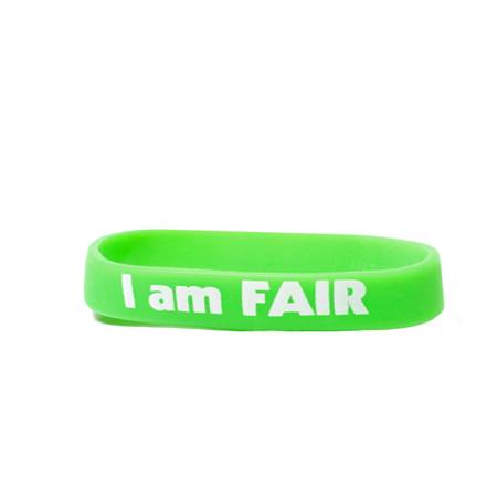 I Am Fair Silicone Wristband