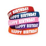 Happy Birthday Wristband Assortment, 25/pkg