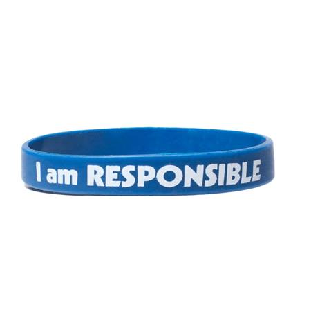I Am Responsible Silicone Wristband