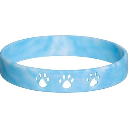 Cut Out Paw Wristband - Light Blue