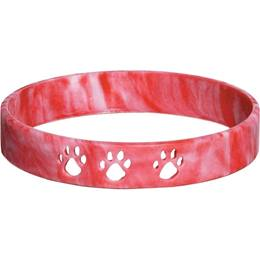Cut Out Paw Wristband - Red
