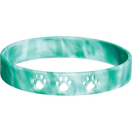 Cut Out Paw Wristband - Green