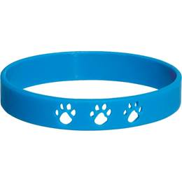 Cut Out Paw Wristband - Blue