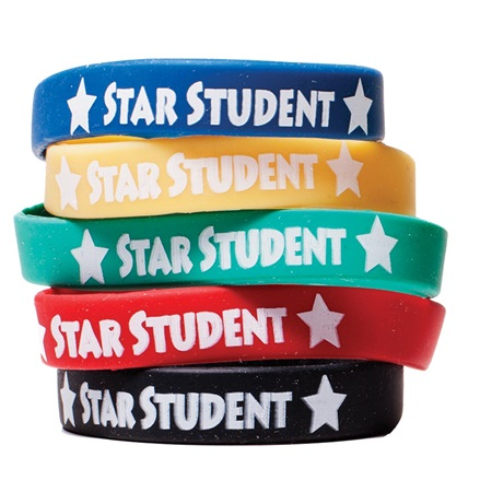 Star Student Wristband Assortment, 25/pkg 5/15